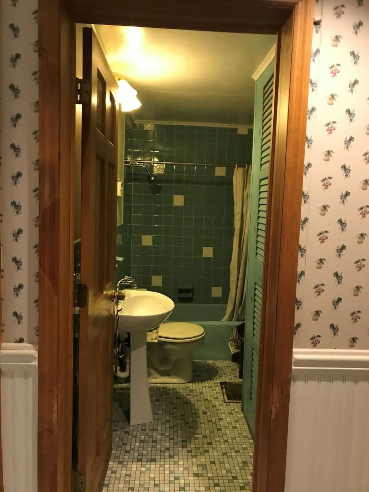 Before: Bathroom at 200 Moe Rd., Clifton Park. View House of the Week from 2020.