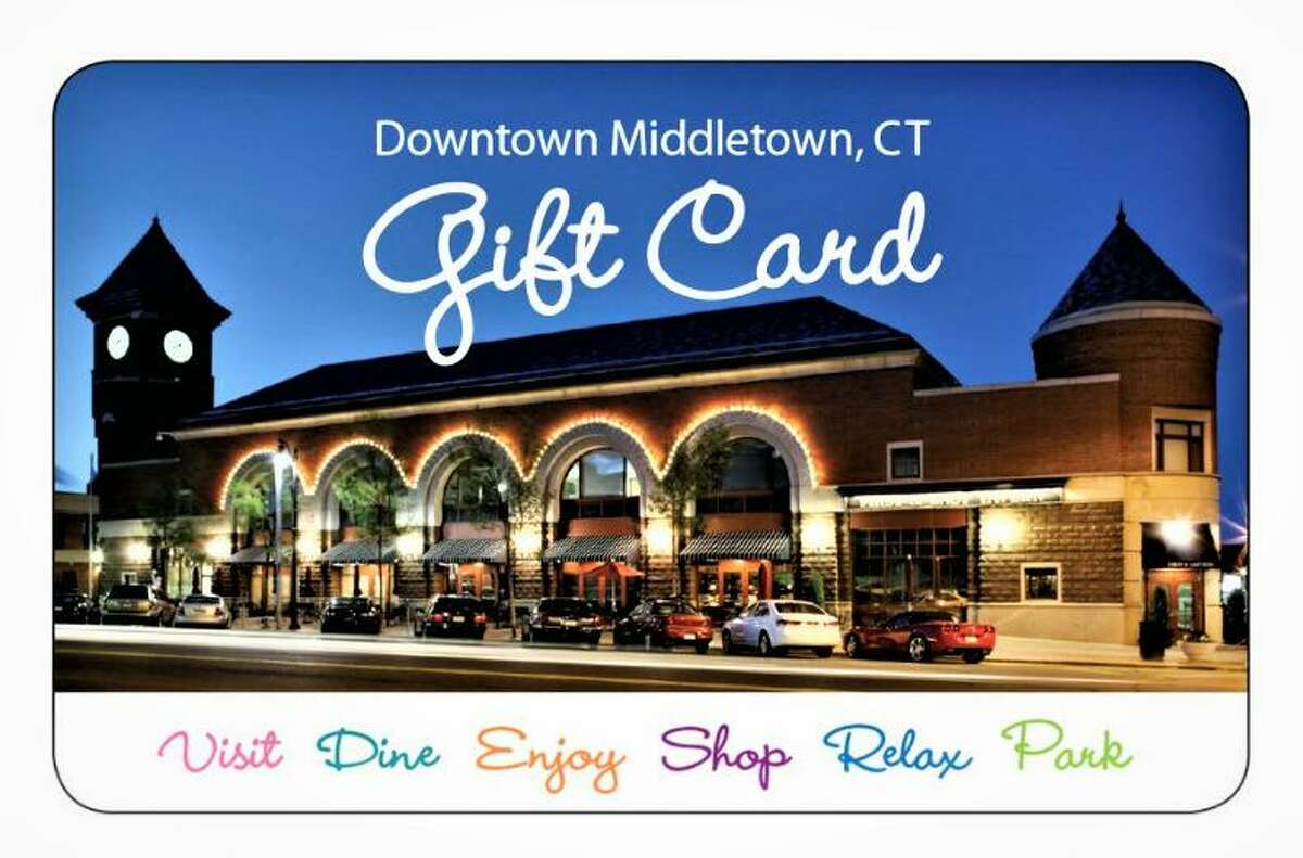 Middletown Downtown Business District gift cards are available in $20 increments. They can be purchased online, as well as at Amato's Toy and Hobby and the Middlesex County Chamber of Commerce.