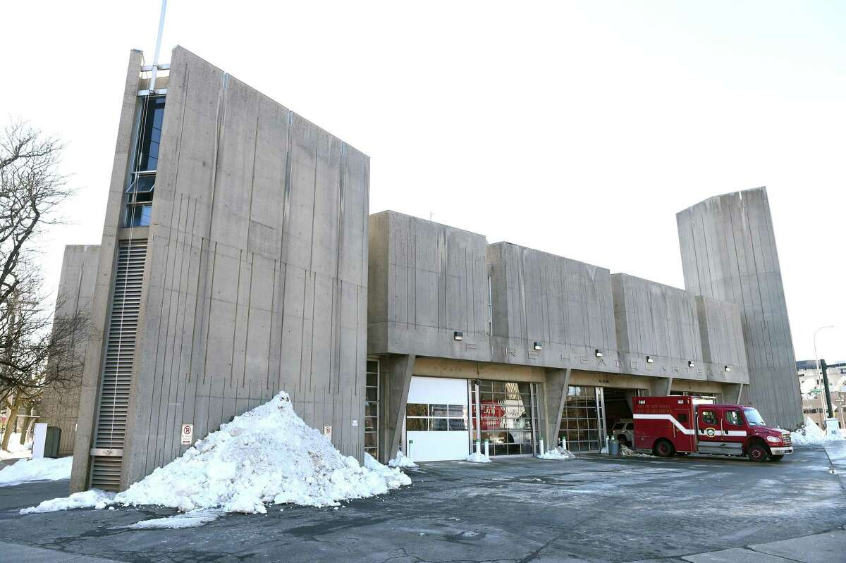 The New Haven Fire Department headquarters photographed on Feb. 4, 2021.