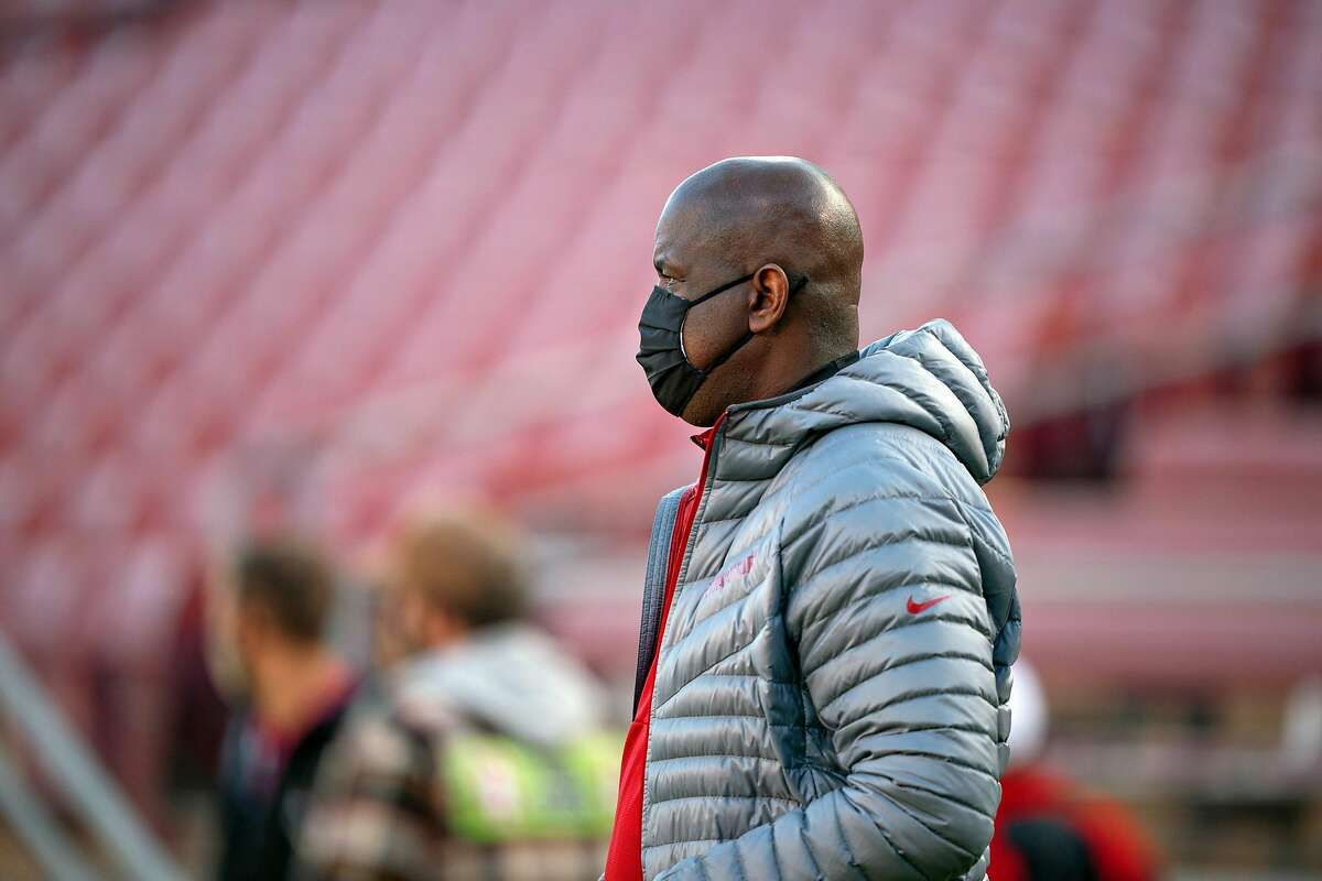 STANFORD, CA - NOVEMBER 14: Stanford Athletic Director Bernard Muir during a game between University of Colorado and Stanford Football at Stanford Stadium on November 14, 2020 in Stanford, California.(Photo by John Todd/ISI Photos/Getty Images).