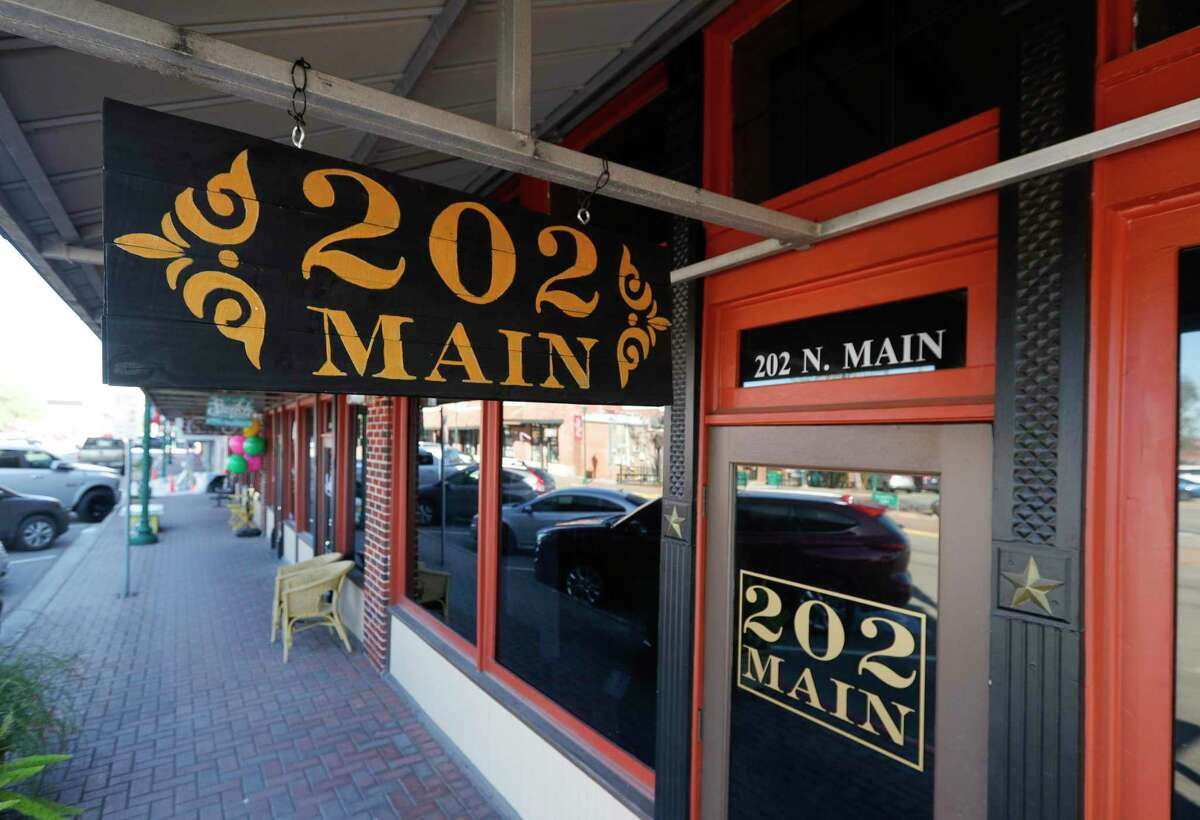 202 Main Street, an entertainment venue in downtown Conroe, is seen, Tuesday, Jan. 5, 2021. 202 Main invites the community to reserve a spot for live music and a catered Italian meal on Saturday, Feb. 13. RSVP info on their Facebook Page.