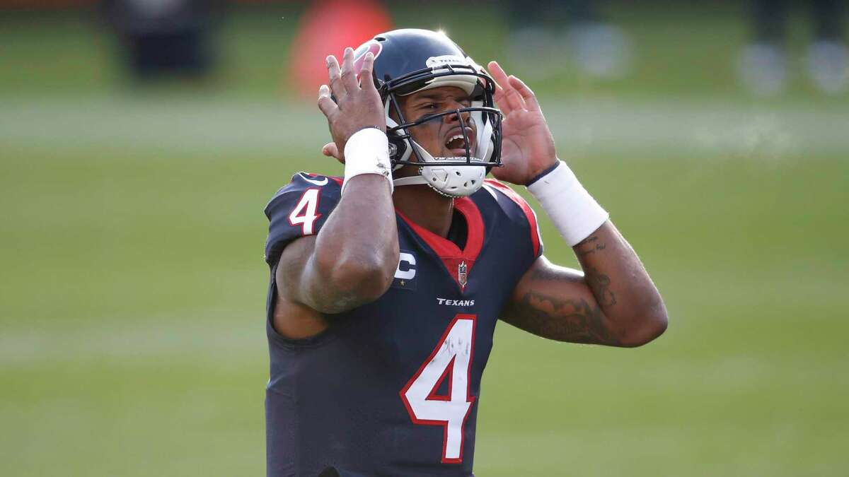 Houston Texans quarterback Deshaun Watson (4) in action during the second half of an NFL football game against the Chicago Bears, Sunday, Dec. 13, 2020, in Chicago. (AP Photo/Kamil Krzaczynski)