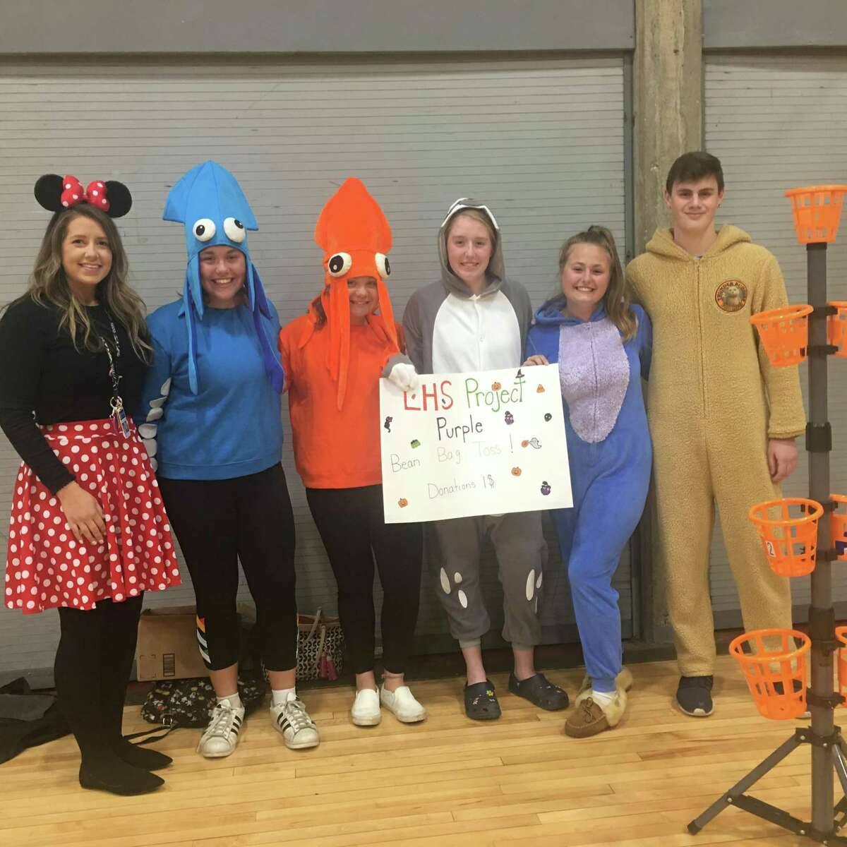The Project Purple Club hosting a game at the Litchfield Prevention Council Halloween event in 2019.
