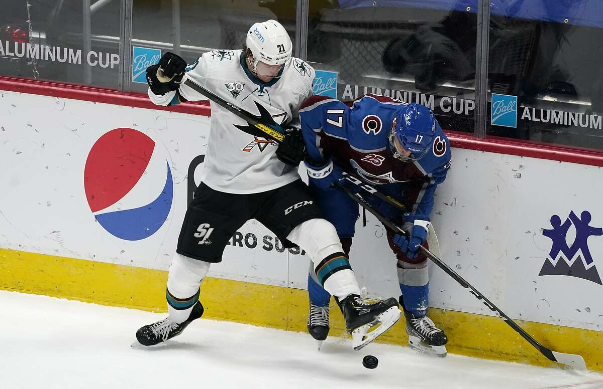Sharks defenseman Nikolai Knyzhov, left, and his teammates will play in Anaheim at 7 p.m. Friday (NBCSCA). It will be San Jose's first game since Jan. 28.