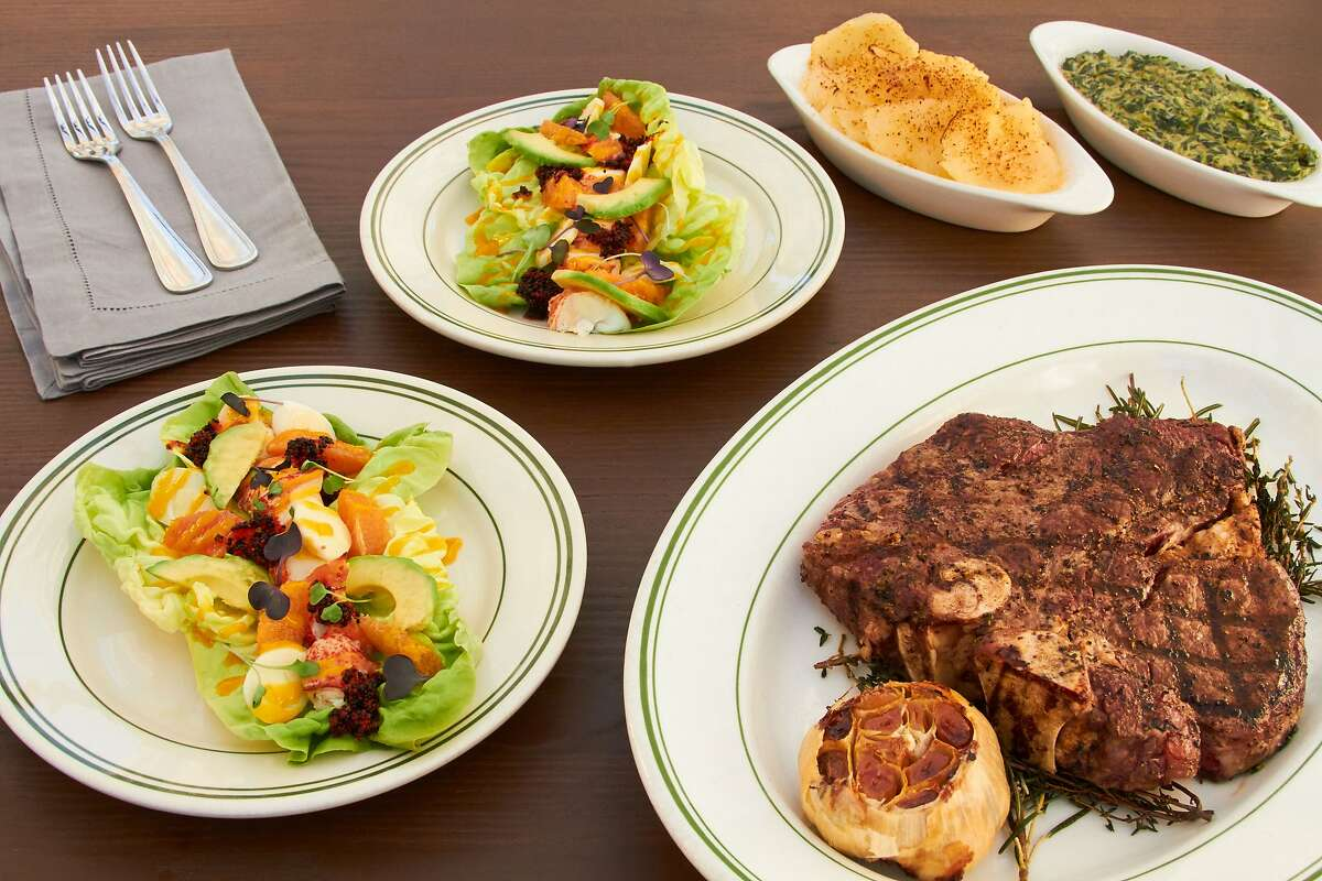 The Valentine's Day steak dinner from Izzy's, available in San Francisco and San Carlos.