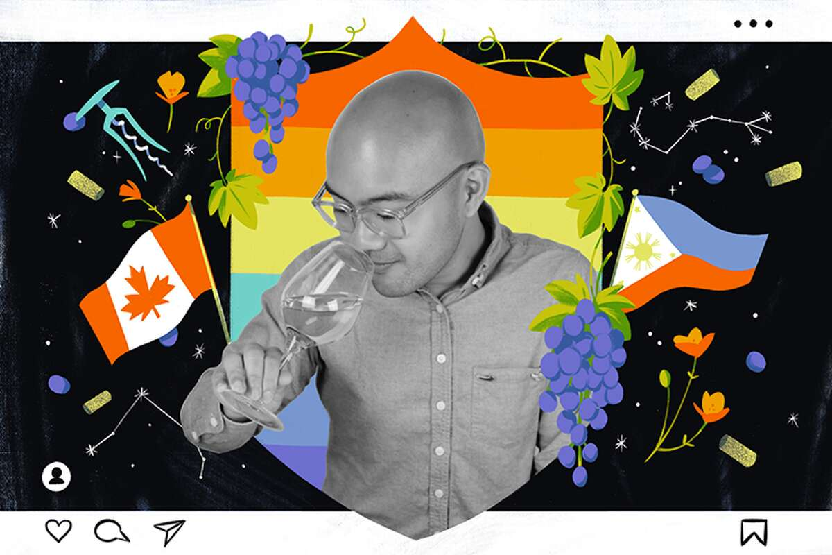 Josh Decolongon, a San Francisco sommelier also known as @sommeligay, is making waves in the wine world with his funny Instagram videos.