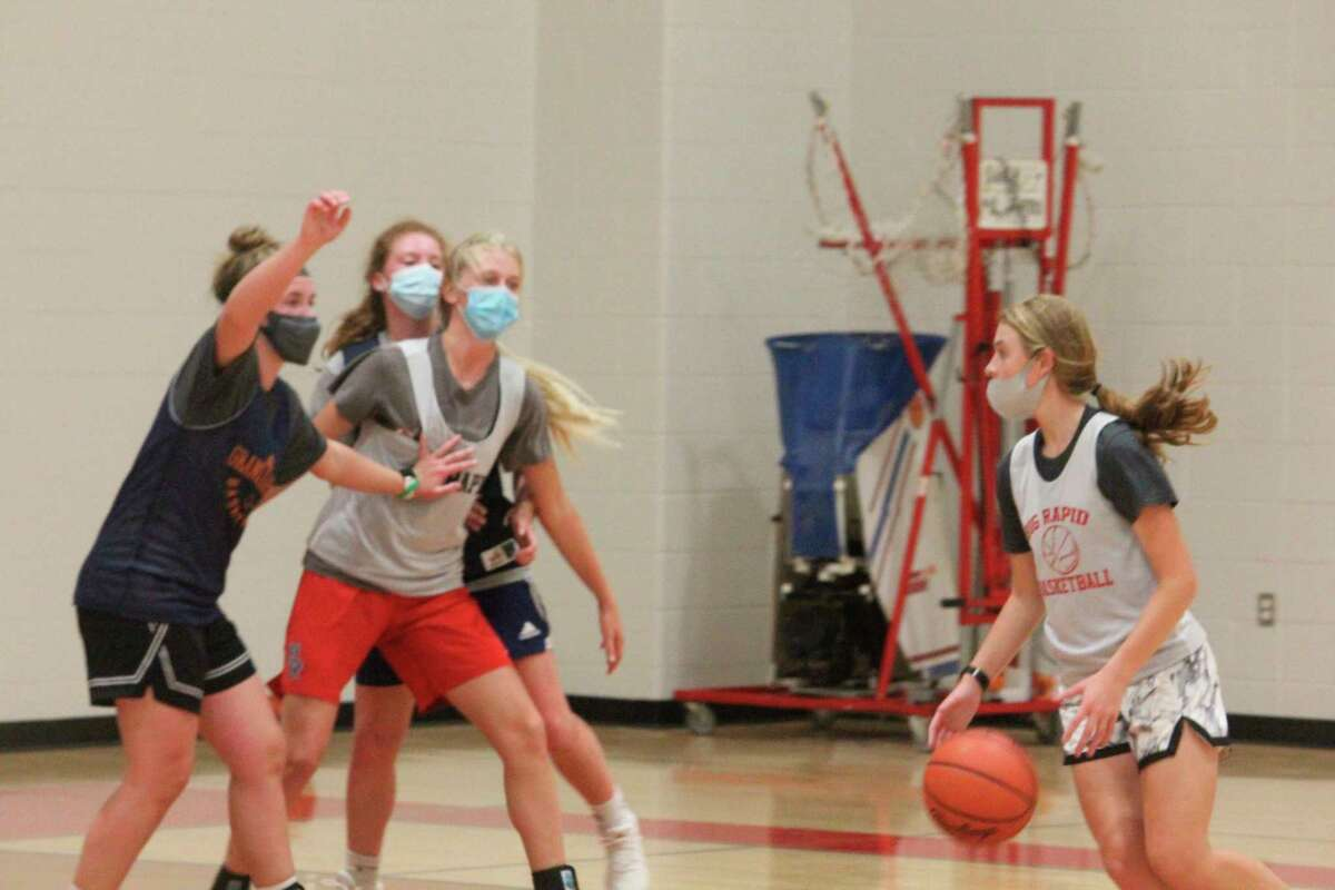 Big Rapids girls basketball players and other area winter sports athletes will be ready to go next week. (Pioneer photo/John Raffel)