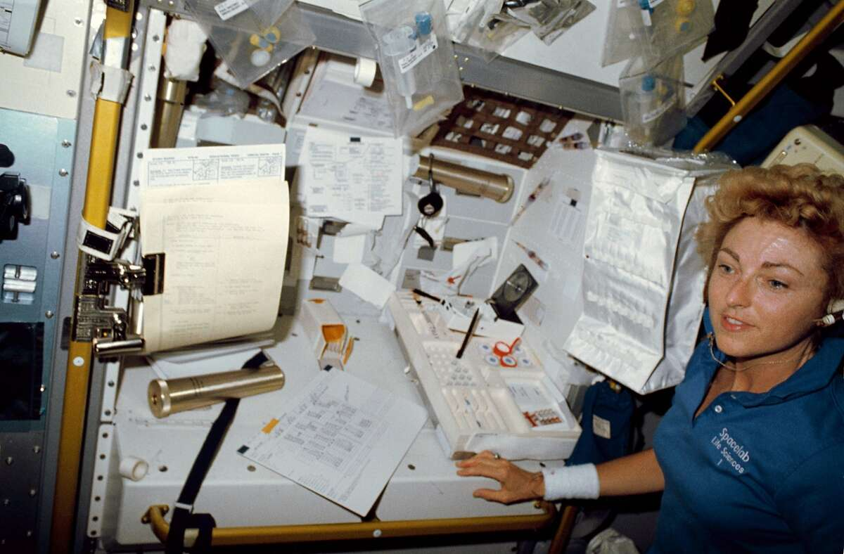 Millie Hughes-Fulford took leave as a UCSF professor to be a astronaut and researcher on board the Columbia Space Shuttle in 1991.