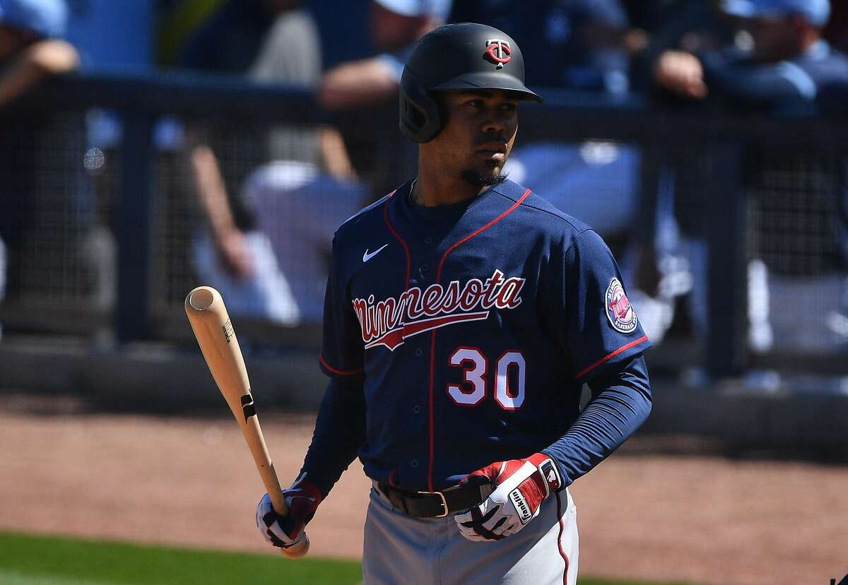 PORT CHARLOTTE, FLORIDA - MARCH 01: LaMonte Wade Jr. #30 of the Minnesota Twins bats during the spring training game against the Tampa Bay Rays at Charlotte Sports Park on March 01, 2020 in Port Charlotte, Florida. (Photo by Mark Brown/Getty Images)