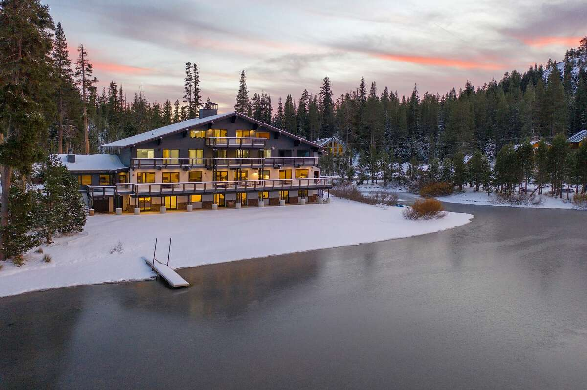 The property is truly named: Ice Lakes Lodge rests upon a lake, surrounded by forest and mountains.