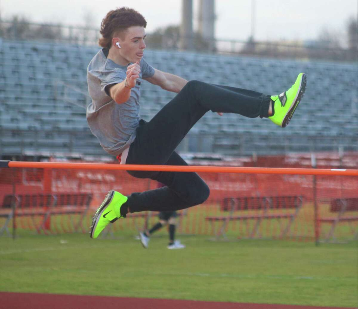 Kaden Harvey had an easy time clearing the bar during a Wednesday workout. It gets much more serious starting Friday when he competes in the Kethan Relays.