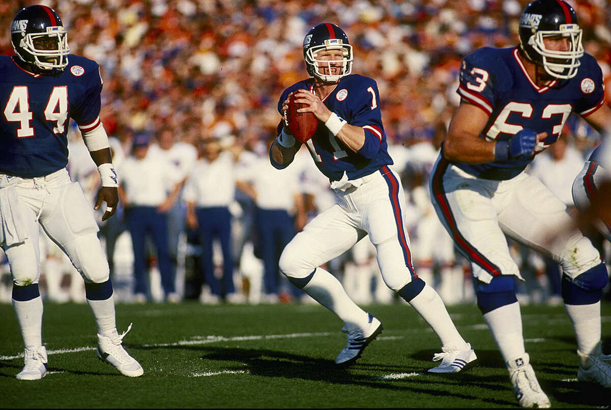 Super Bowl XXI MVP and New York Giants quarterback Phil Simms in the game that coined the now-iconic phrase in 1987.