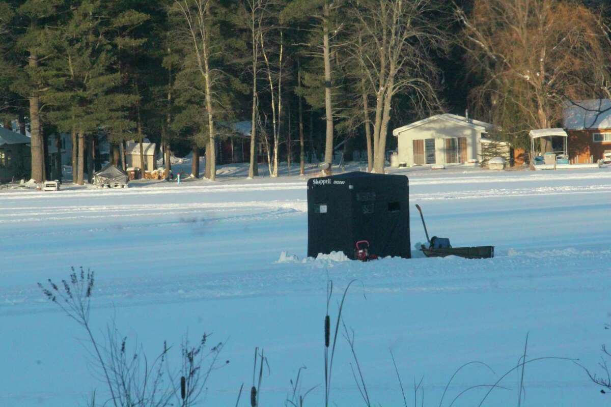 The time to be in a shanty will be Feb. 13-14 for free fishing weekend. (Pioneer file photo)