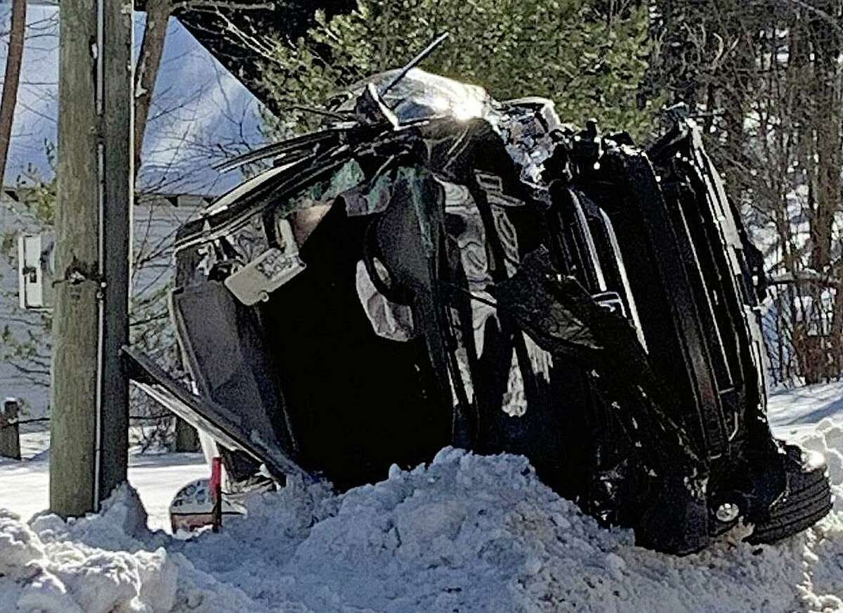Firefighters were called to the 800 block of New Litchfield Street shortly before 2 p.m. Thursday, Feb. 4, 2021 for a head-on collision that sent one person the the hospital by helicopter.