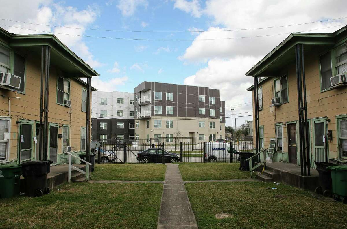 Residents at 2210 Barbee St. found a notice informing them they have until February 10 to vacate their apartments on Jan. 25. Photographed Wednesday, Feb. 3, 2021, in Houston.