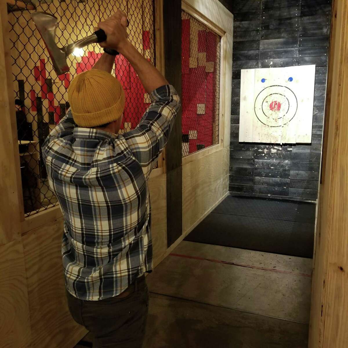 Pine & Iron in New Haven. Ax-throwing has become an increasingly popular pastime since the creation of the International Ax Throwing Federation in 2016.