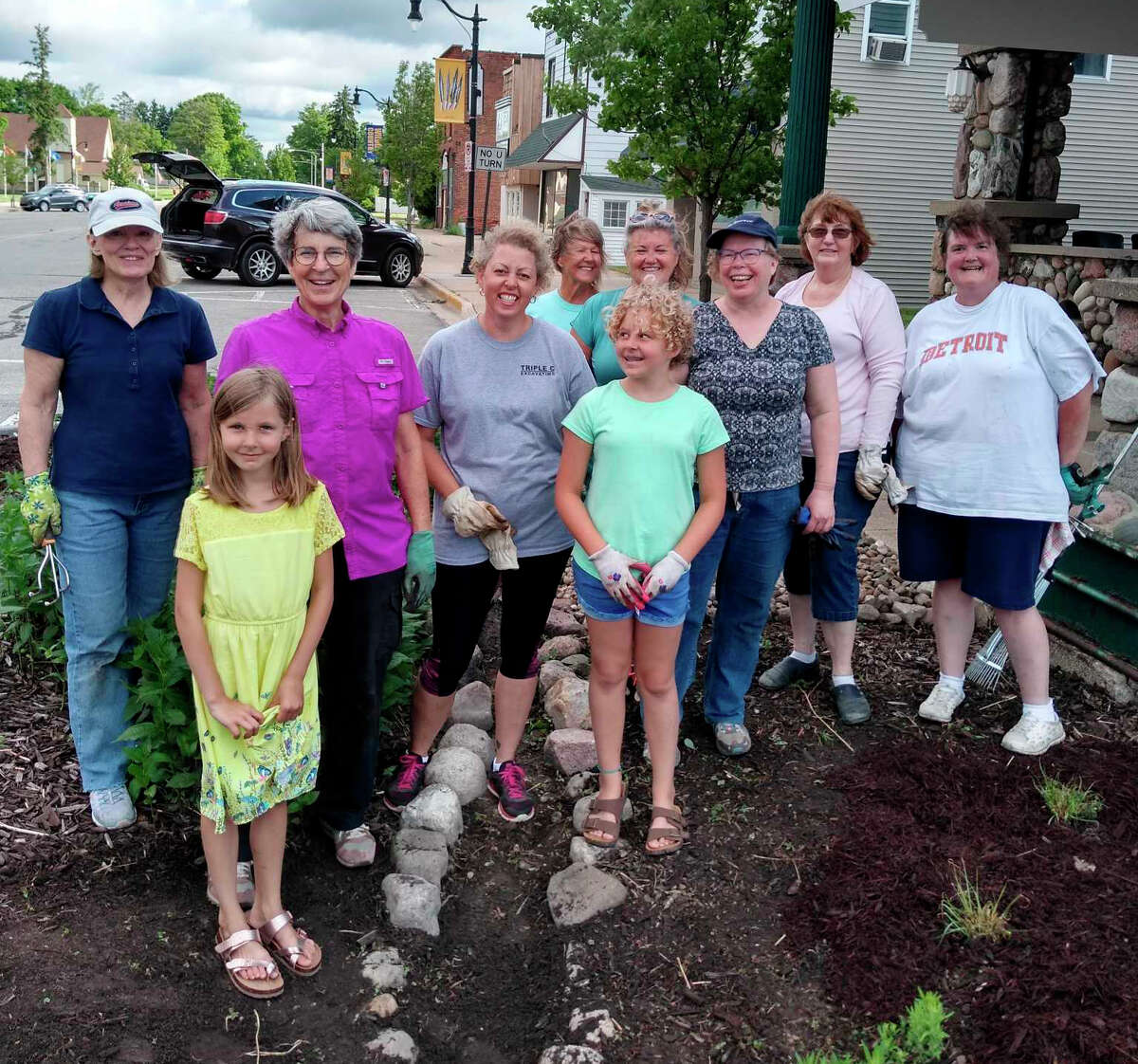 The Evart Garden Club, along with other local volunteers, cleaned and replanted the bump-out flower beds in downtown Evart this past spring. The work will continue this coming spring as more plants are added.