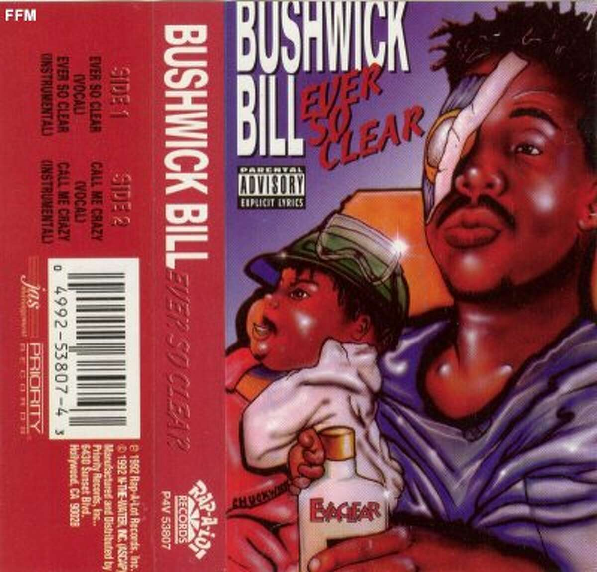 Bushwick Bill - Ever So Clear *tape single*. 1992, Rap-A-Lot RecordsHouston, Texas