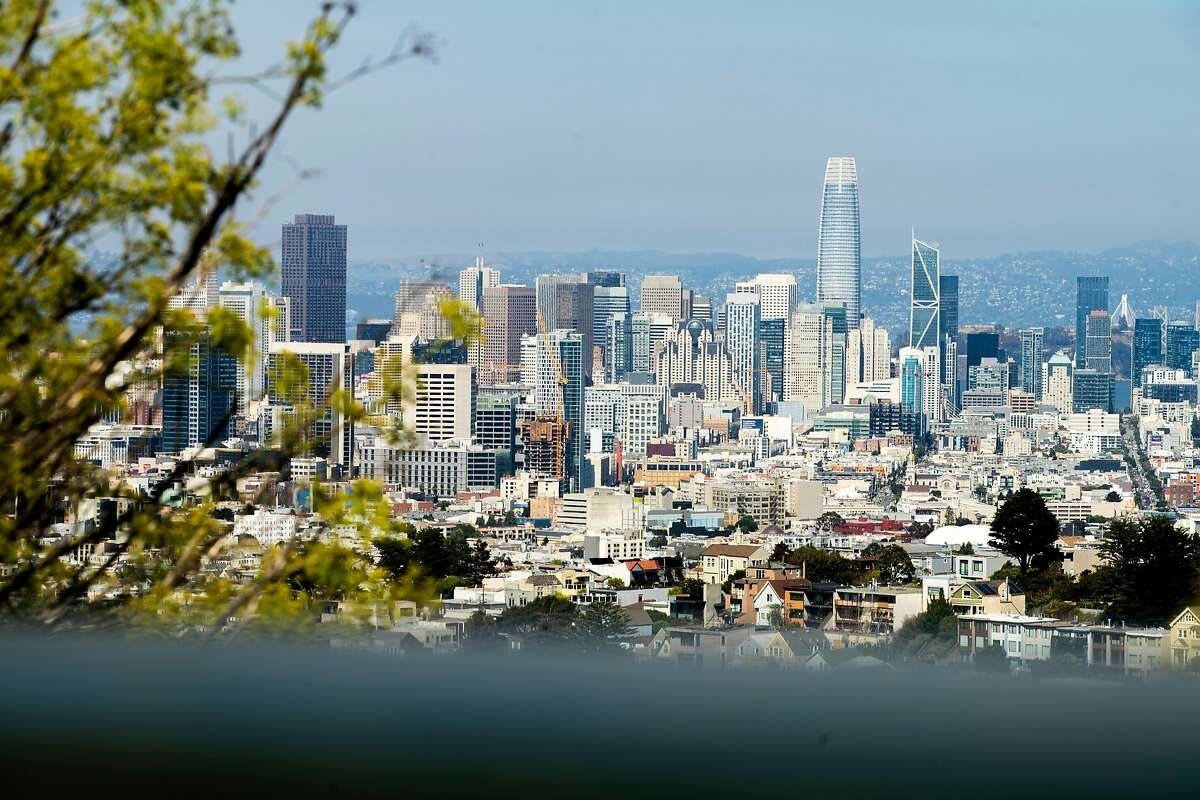 The skyline on Tuesday, Aug. 25, 2020, in San Francisco, Calif.
