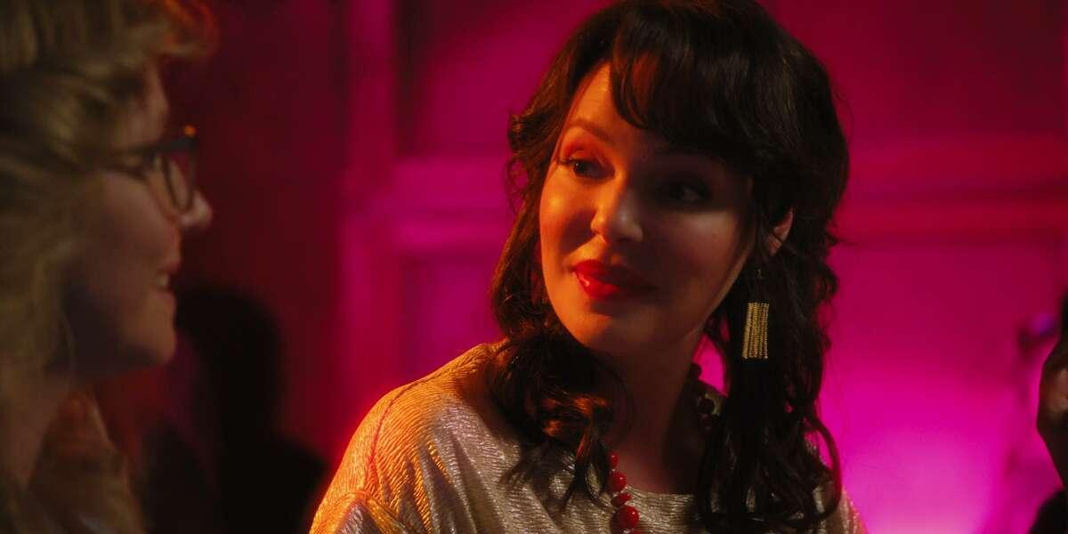 "Actress Katherine Heigl is seen wearing Jewels for Hope earrings in episode one of Netflix's ""Firefly Lane."""