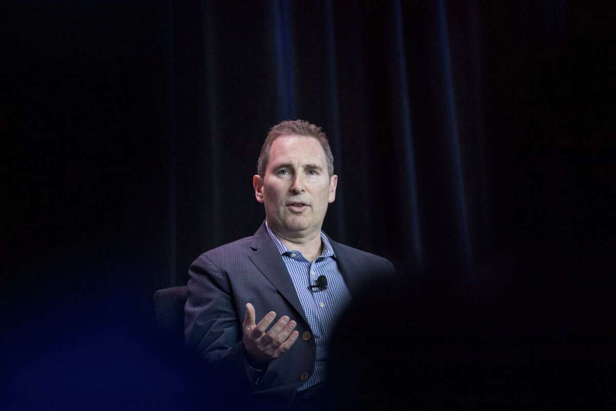 Andy Jassy, former chief executive officer of web services and now CEO at Amazon.com Inc., speaks during the Amazon Web Services (AWS) Summit in San Francisco on April 19, 2017.