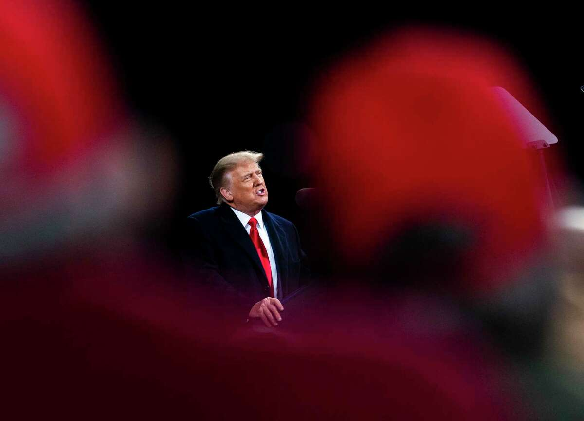FILE -- President Donald Trump speaks at a campaign rally in Valdosta, Ga., Dec. 5, 2020. His campaign appears to have contributed nothing to the Georgia Senate runoffs. Many Republican grass-roots donors were drawn in by former President Donald Trump's false promises and