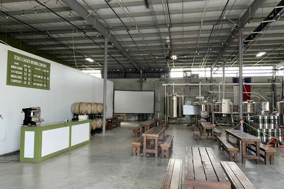 The beerpark at Texas Leaguer Brewing in Missouri City.