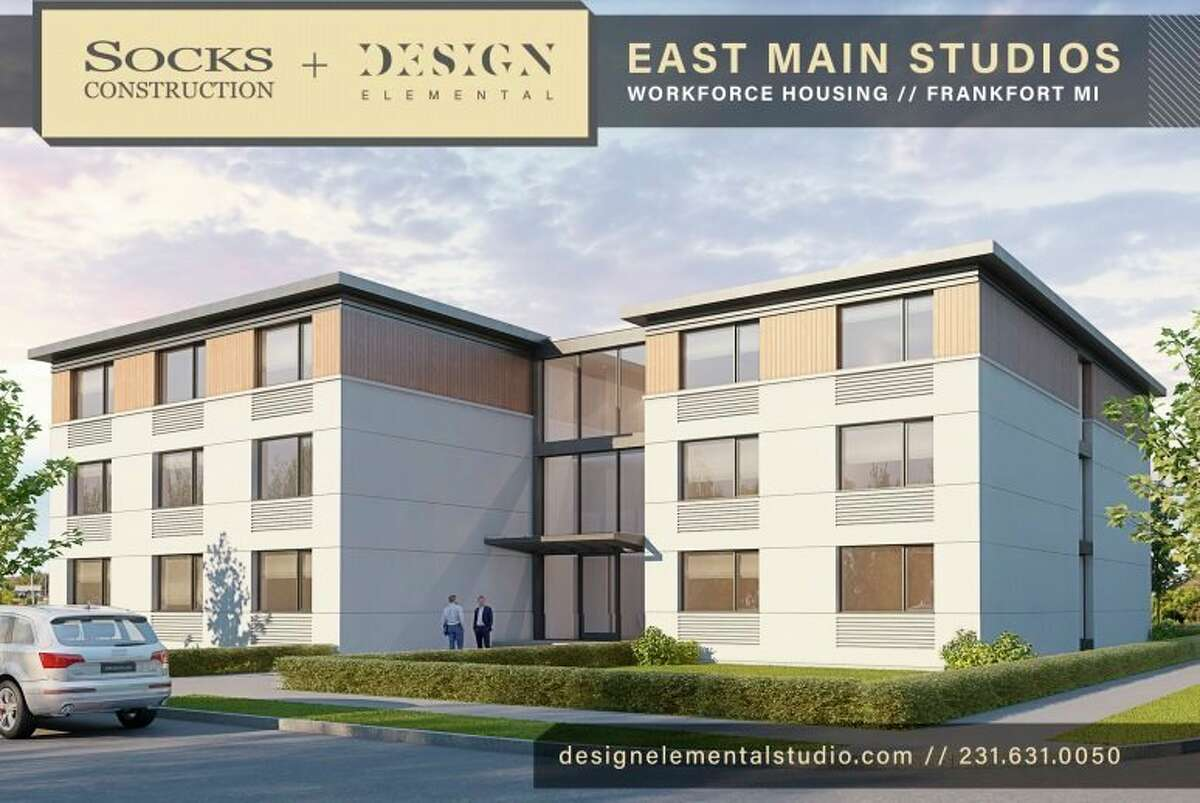 Concept art for East Main Village, a 30 studio apartment rental unit planned through collaboration between Socks Construction and the City of Frankfort. (Courtesy Photo/Socks Construction)
