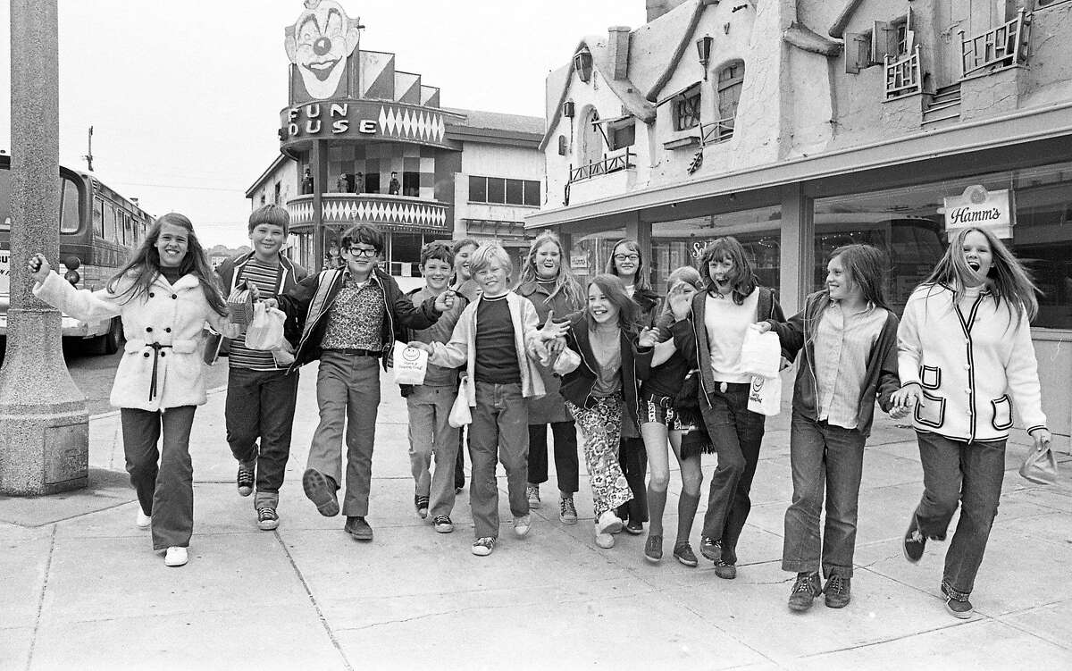 The last day of Playland-at-the-Beach, an amusement park that included a roller coaster in San Francisco, in 1972. It was demolished and replaced by condos.