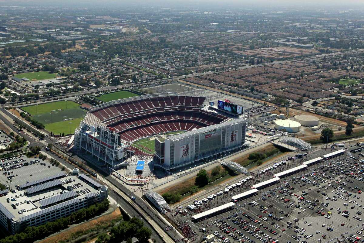 Levi's Stadium in Santa Clara on Tuesday is scheduled to roll out the largest COVID-19 mass vaccination site in California.