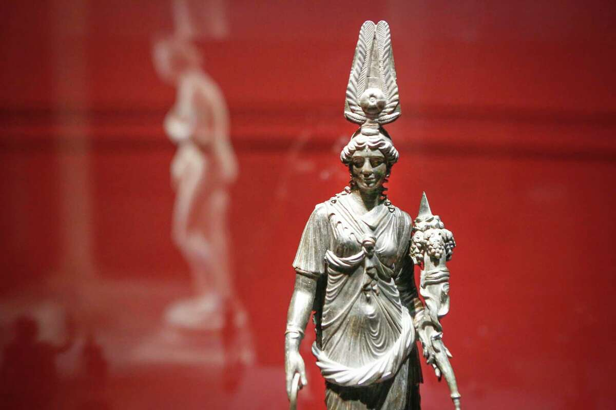 The Godess Isis-Fortuna is among the artifacts in