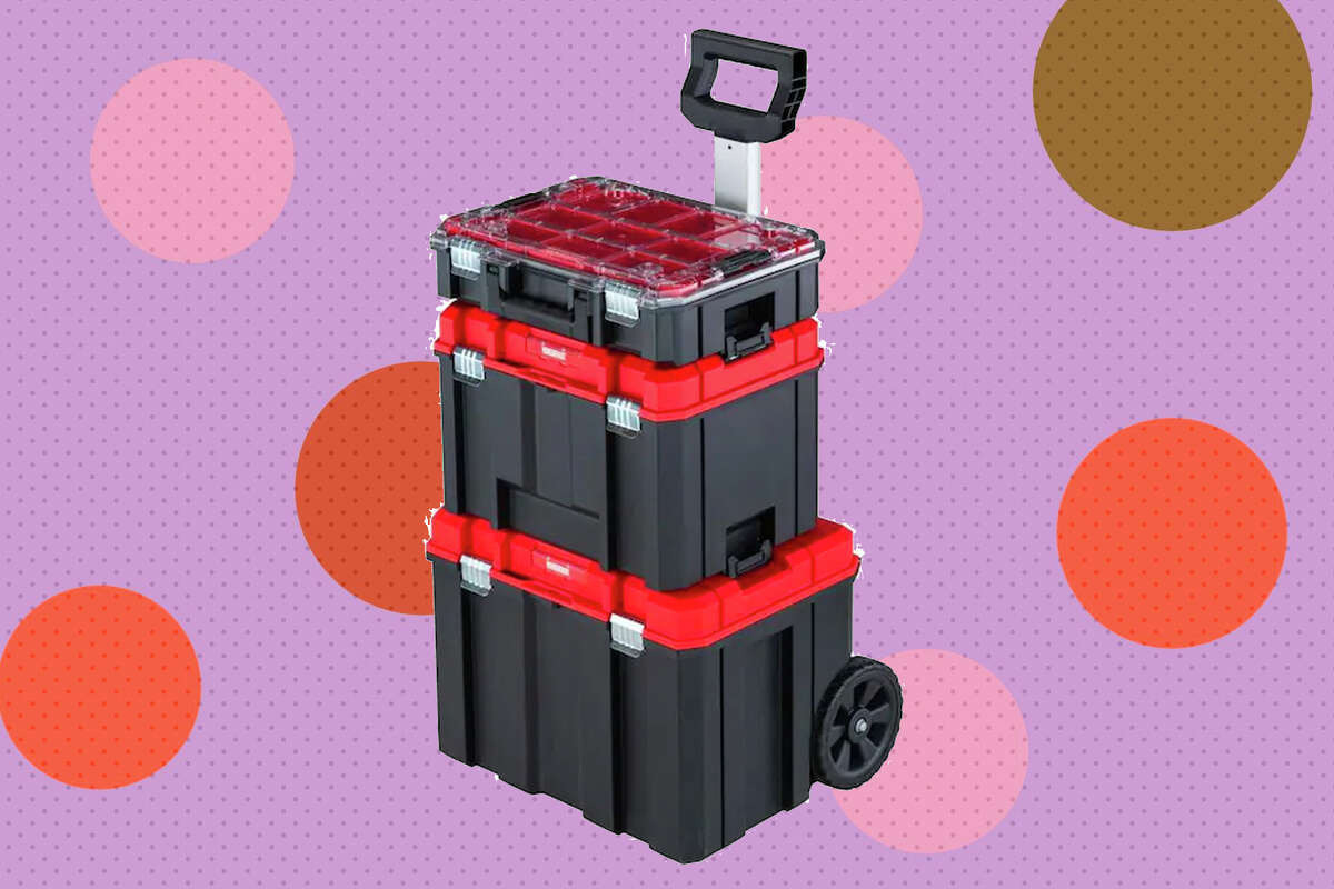 Also, the Craftsman Versatrack 17.126-in Plastic; Metal Wheels Lockable Tool Box is only $90.