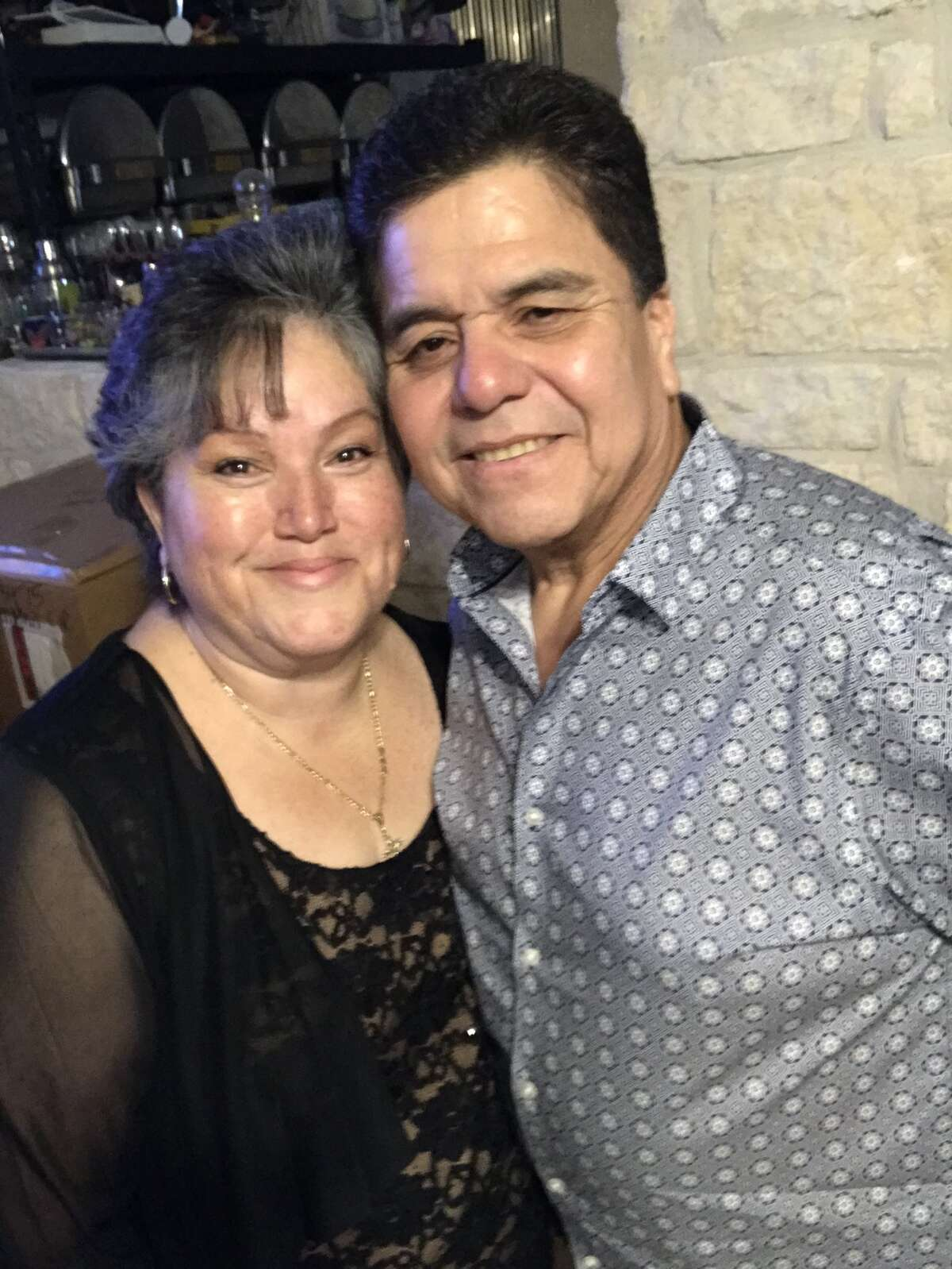 """""""My parents, Oscar and Yolanda Fuentes, met during Fiesta. My dad was in a band and my mom went to go hire them for my aunt and uncle's wedding. Nine months later they got married and they just celebrated 29 years of marriage on Feb. 1. Every Fiesta, they go to the spot where they met."""" - Asenette Fuentes"""