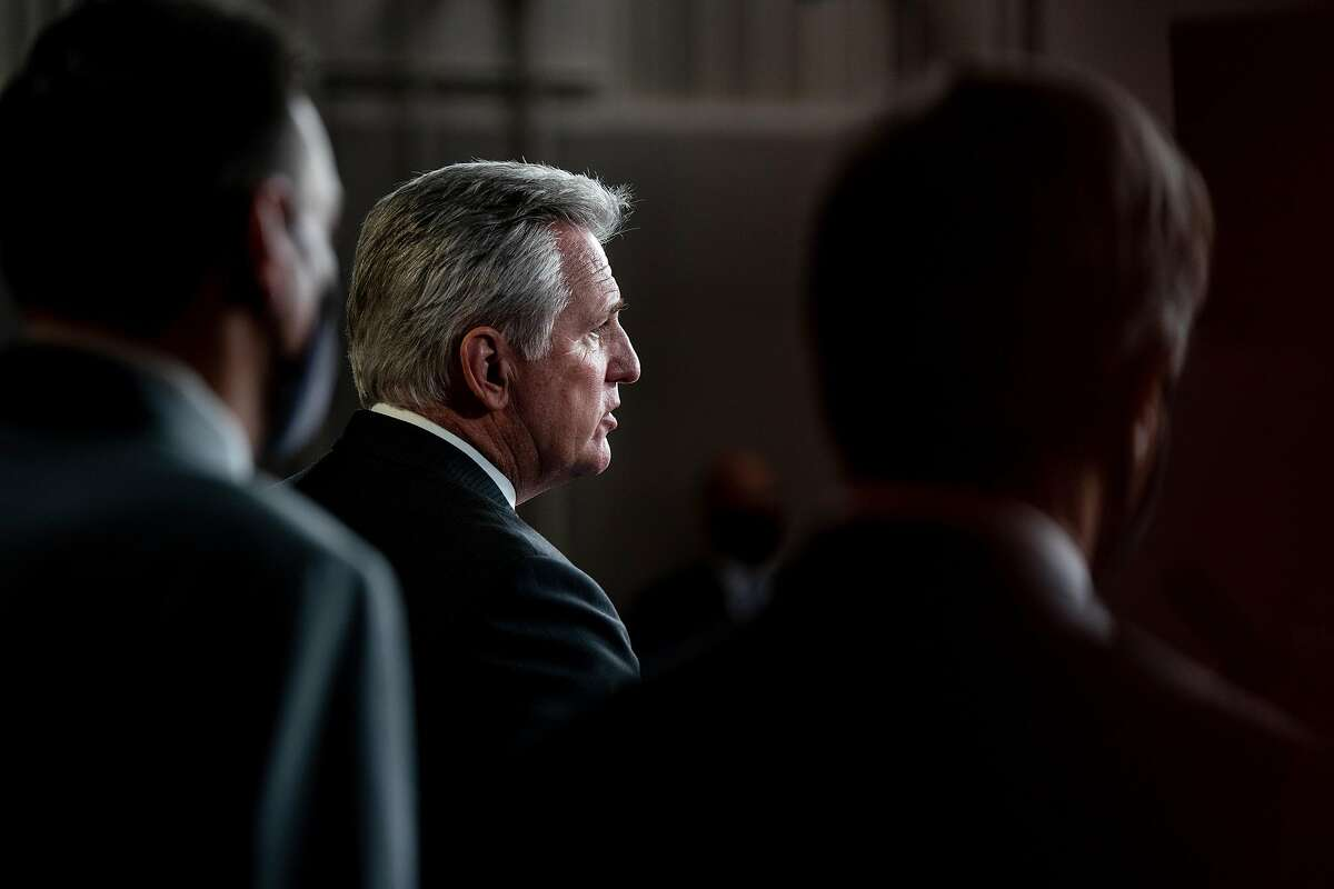 House Minority Leader Kevin McCarthy, R-Bakersfield, at a news conference on Capitol Hill last fall.