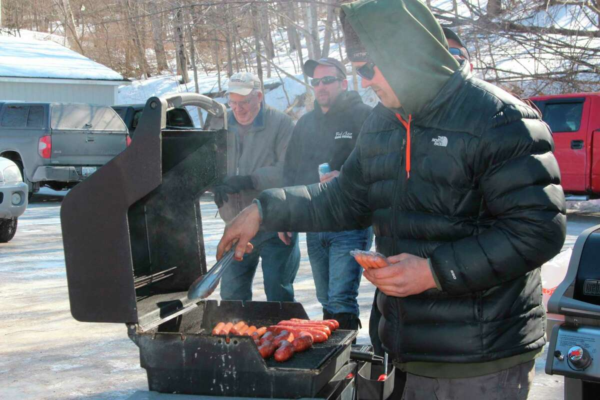 The Mitch Stevenson Memorial Trout Derby is on track to be held this year, with anglers able to fish any iced-over lake in Benzie County and weigh in and luncheon at Bellows Park's new pavilion. (File Photo)