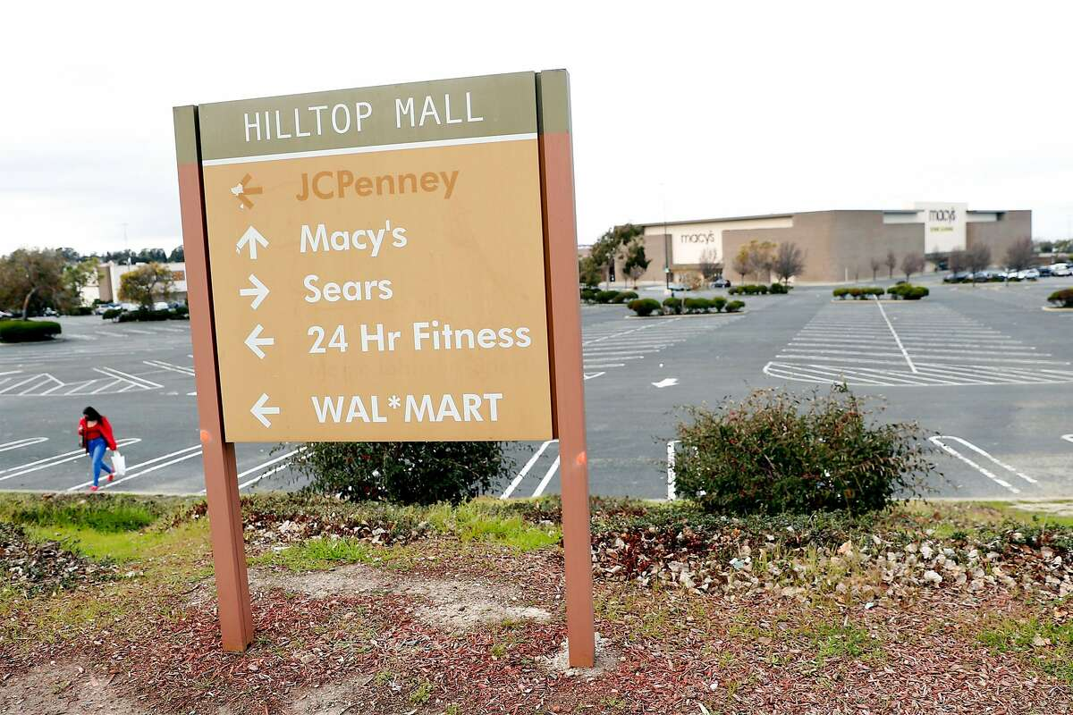 An old Hilltop Mall sign in Richmond. The struggling mall was purchased by Prologis.