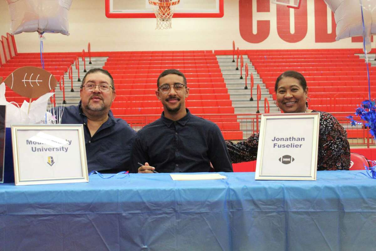 Crosby's Jonathan Fiselier signed to play football and run track at Mount Marty University.