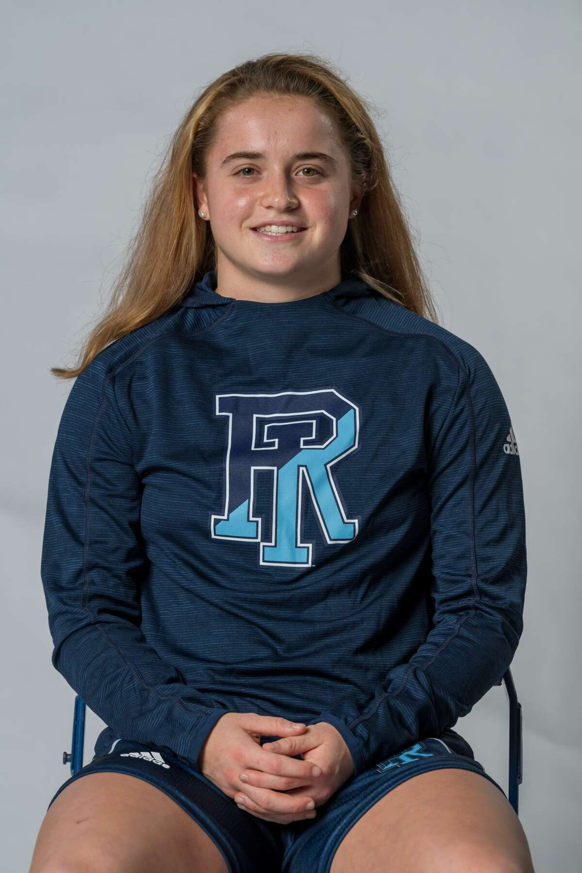 Former Saratoga Springs High star Dolly Cairns of the Rhode Island women's basketball team.