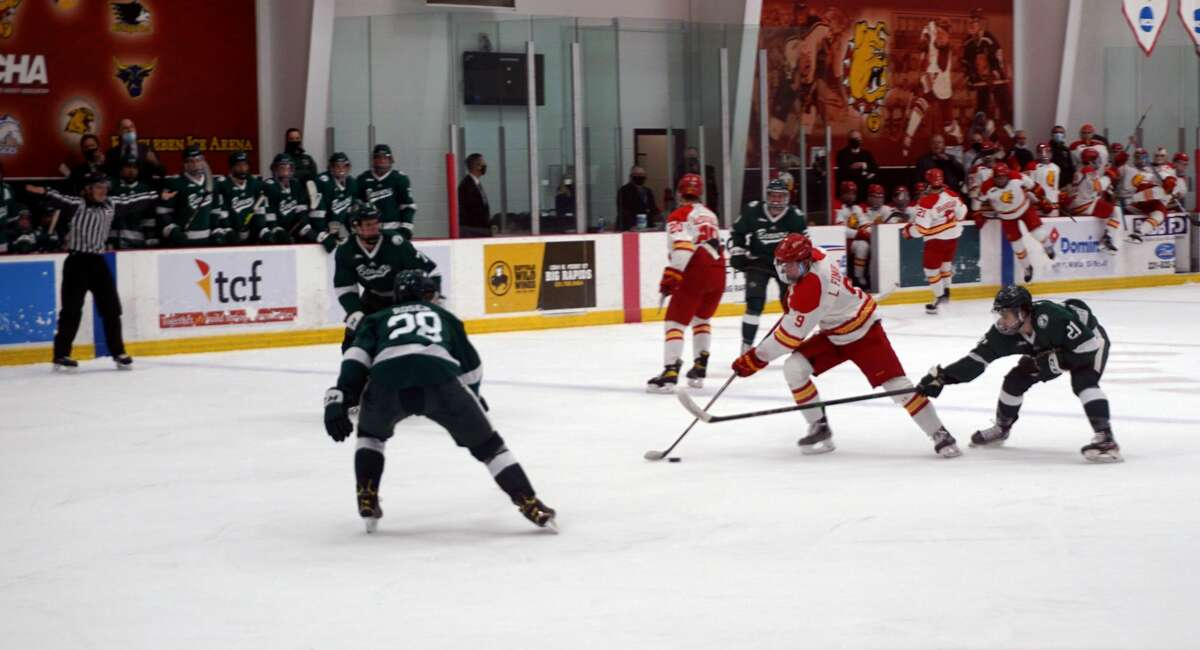 Ferris State's hockey team defeated No. 18-ranked Bemidji State 4-3 in a shootout on Friday night at Ewigleben Ice Arena.