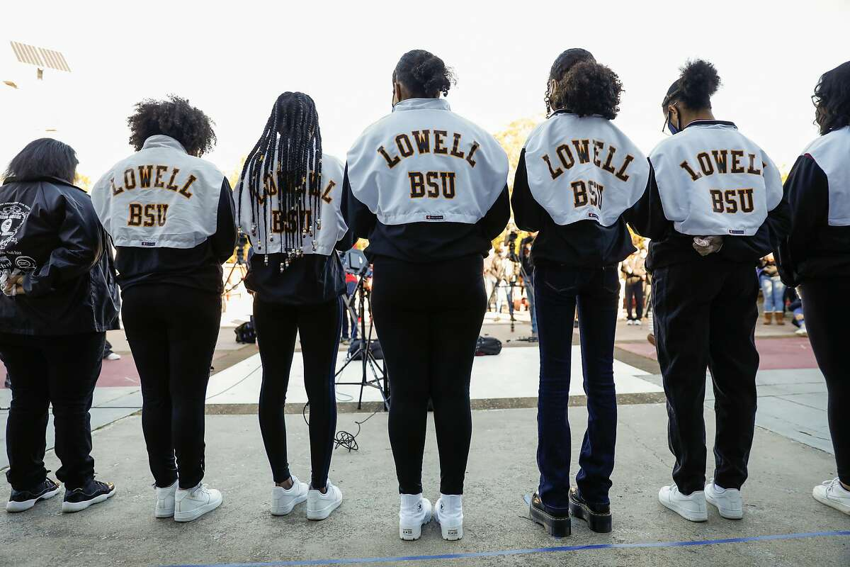 The Lowell Black Student Union joined a student rally to speak out against recent racist attacks in the Lowell community and called on the administration to change the school's admission process.