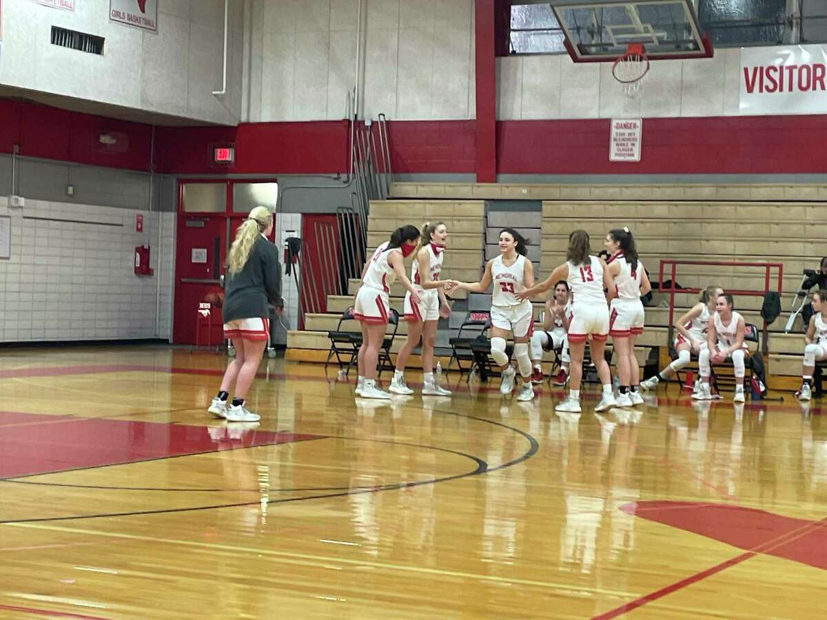 Nicki Polocheck (33) is introduced as part of Memorial's starting lineup before its home game against Cy Ridge on Feb, 5