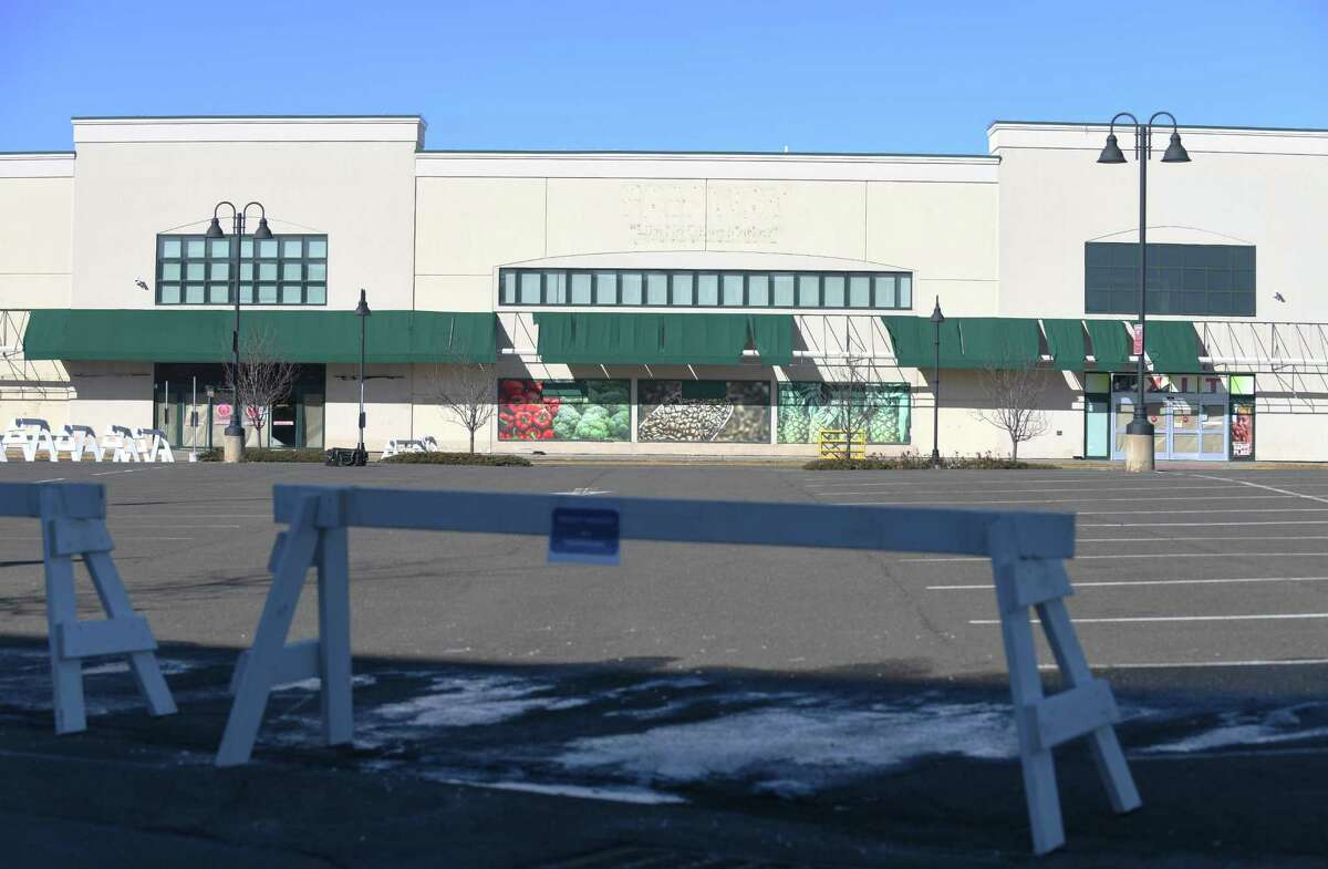 The site of the former Fairway Market at 699 Canal St., in the South End of Stamford, Conn., is still vacant.