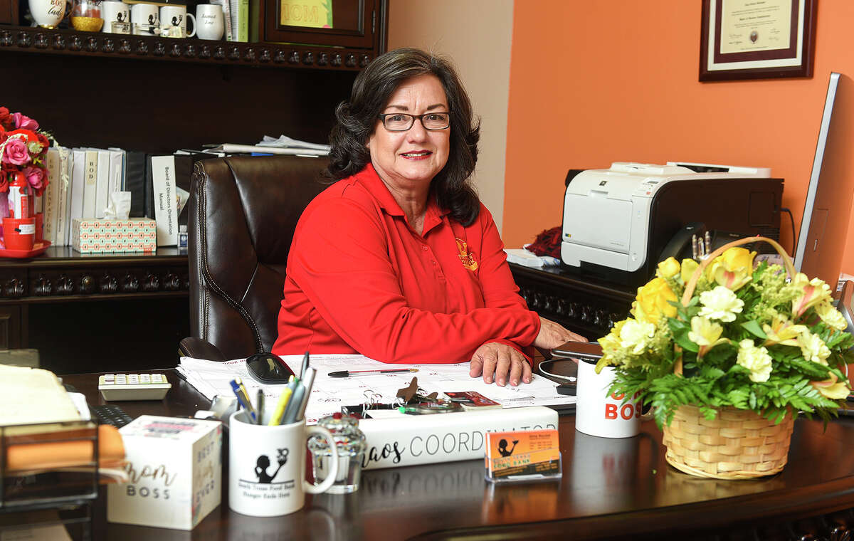 South Texas Food Bank Executive Director Alma Boubel poses for a photo in her office, Friday, Jun 6, 2020, at the South Texas Food Bank.