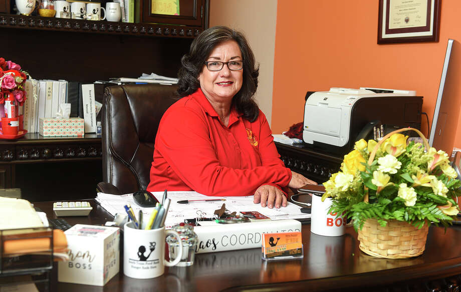 South Texas Food Bank Executive Director Alma Boubel poses for a photo in her office, Friday, Jun 6, 2020, at the South Texas Food Bank. Photo: Danny Zaragoza/Laredo Morning Times