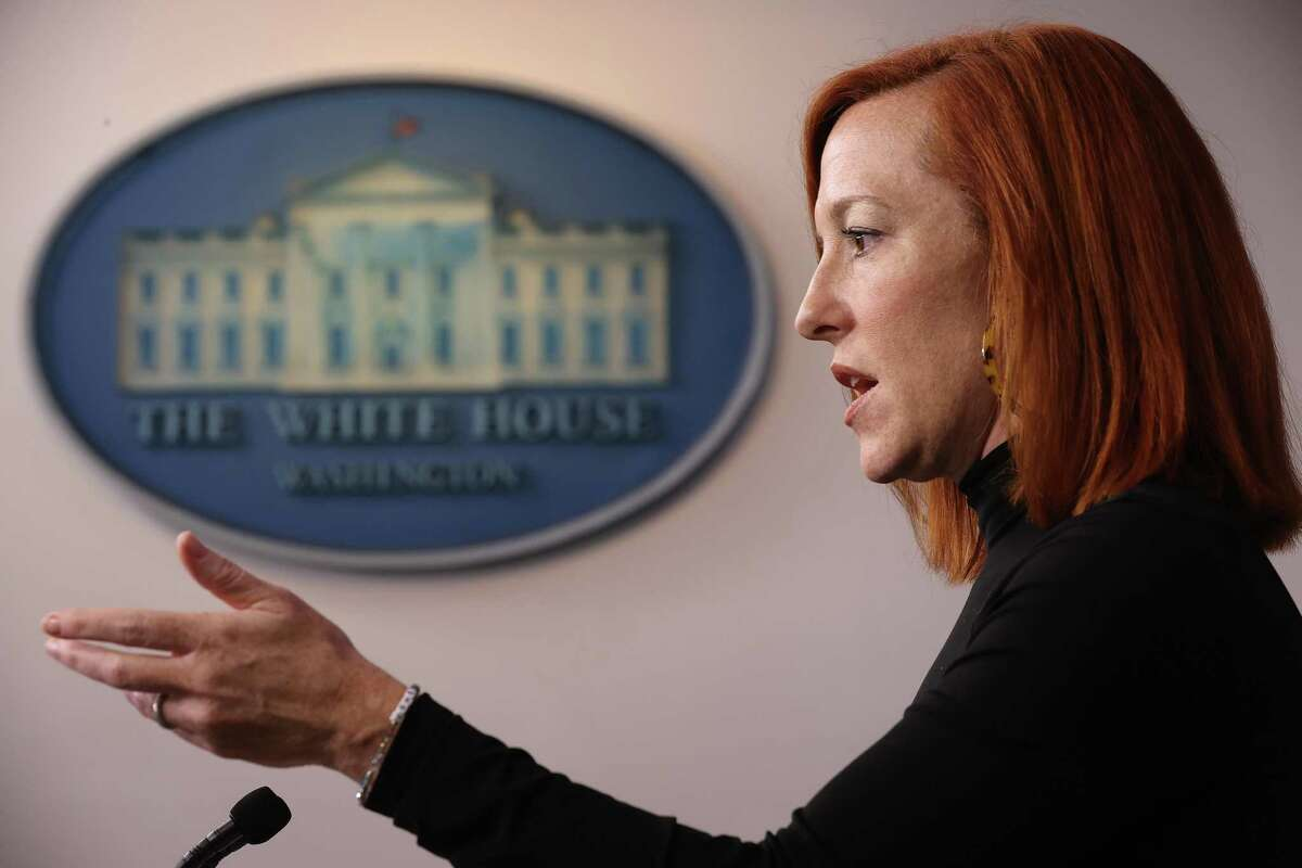 White House Press Secretary Jen Psaki talks to reporters during a news conference in the Brady Press Briefing Room at the White House on Feb. 03, 2021 in Washington, D.C.