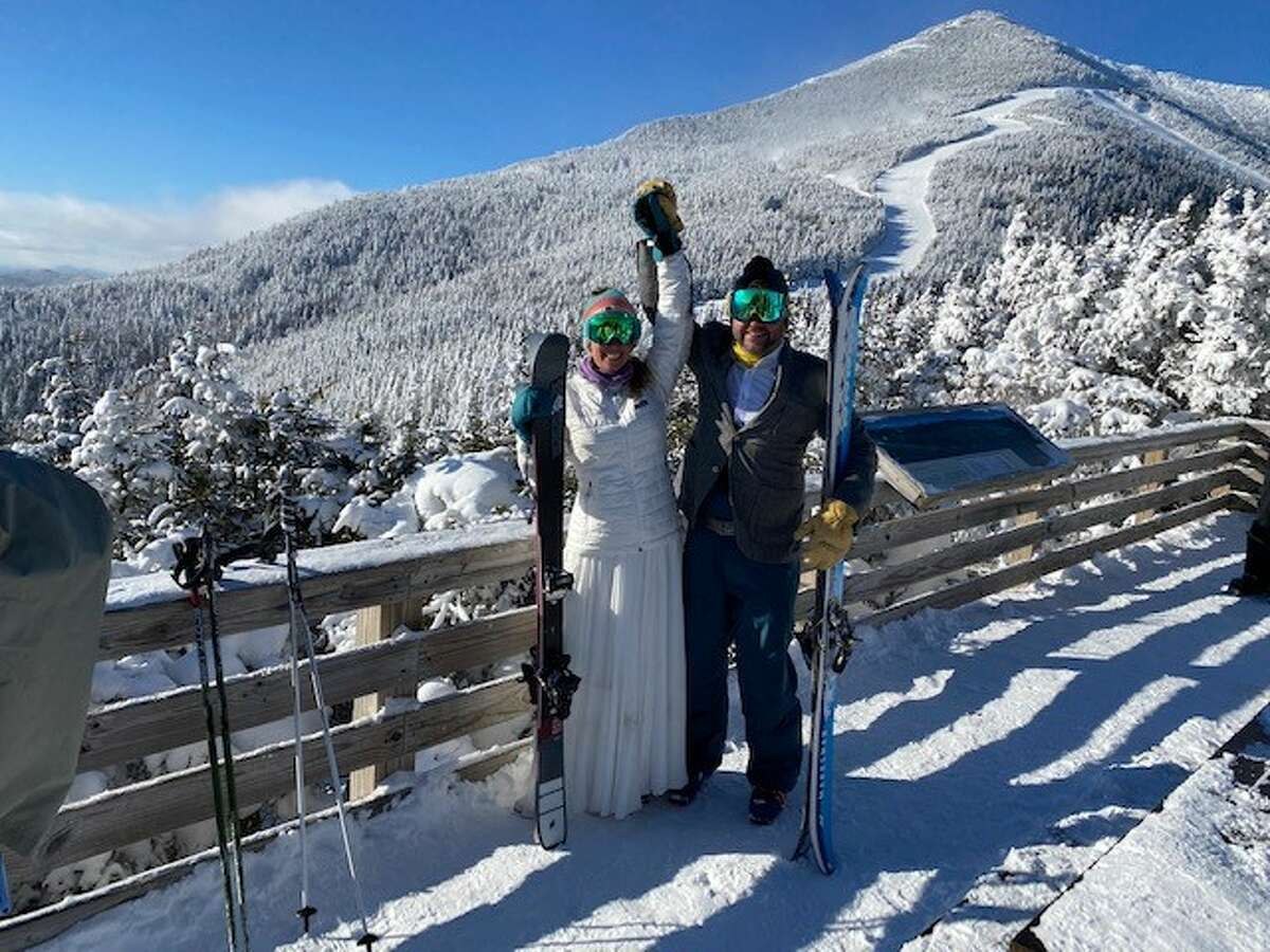 Kate and Mark Smitkin were married on Jan 30, 2o21, at Whiteface Mountain.