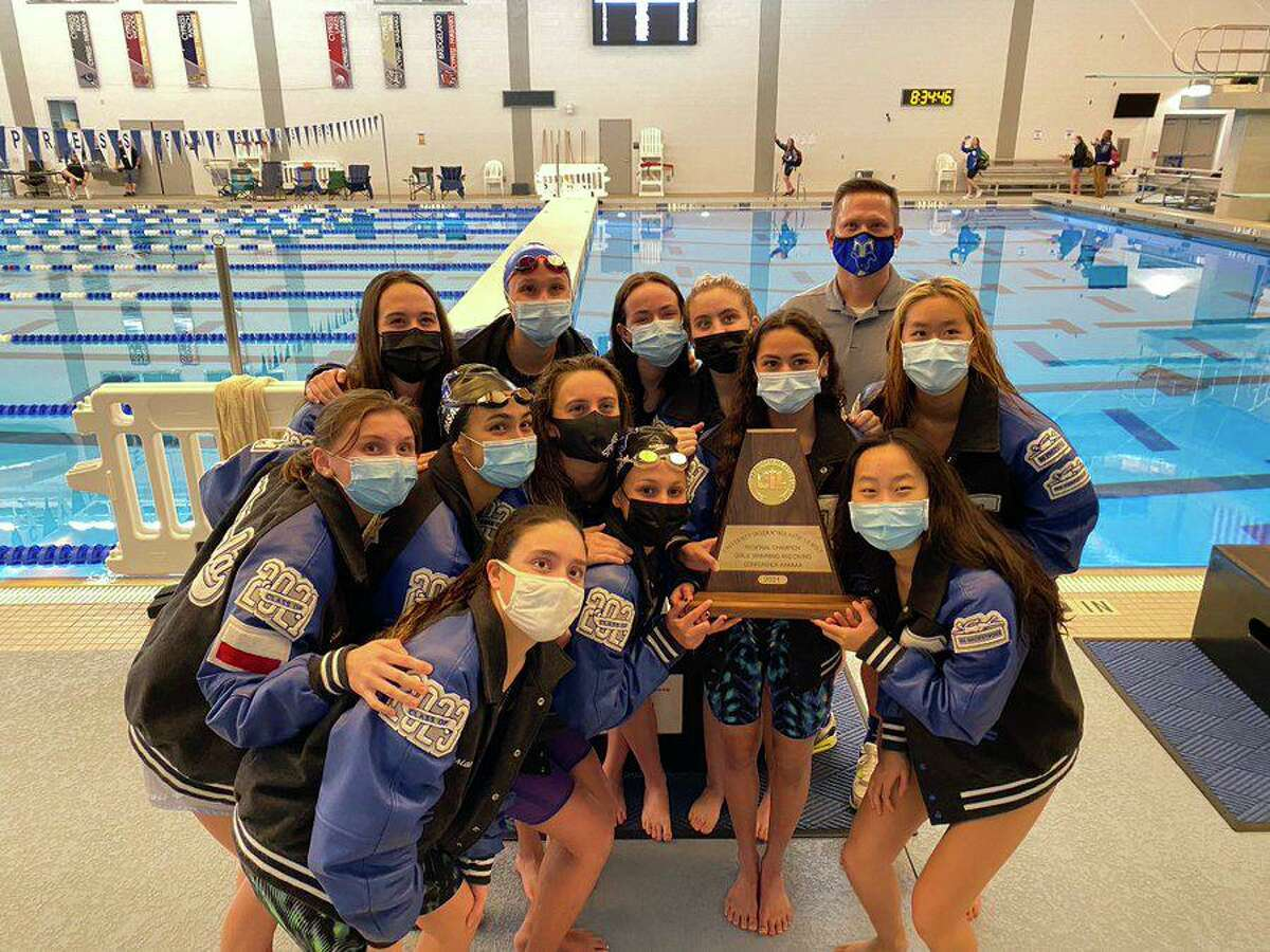 The Katy Taylor girls swimming and diving team won its third consecutive regional championship Feb. 5 at the Cy-Fair ISD Natatorium. The Mustangs scored 345 points, winning four events.