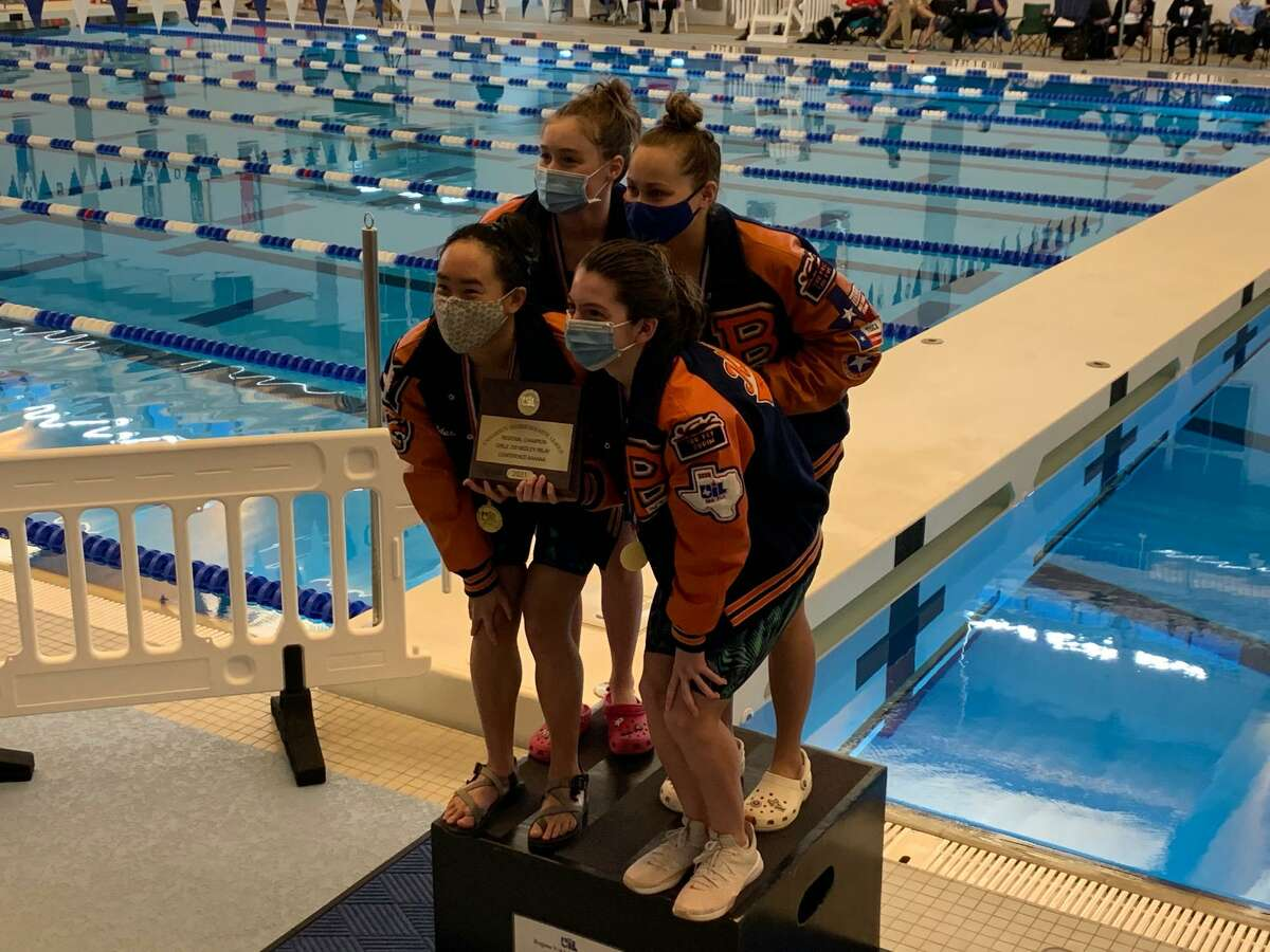 The Bridgeland girls 200-yard medley relay team won the gold medal and set a pool record at the Region V-6A championships, Feb. 5 at the Cy-Fair ISD Natatorium.