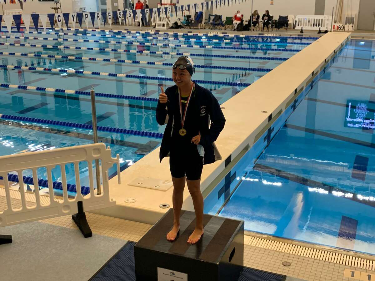 Clements freshman Kayla Fu won the 50-yard freestyle and 100-yard freestyle at the Region V-6A championships, Feb. 5 at the Cy-Fair ISD Natatorium.