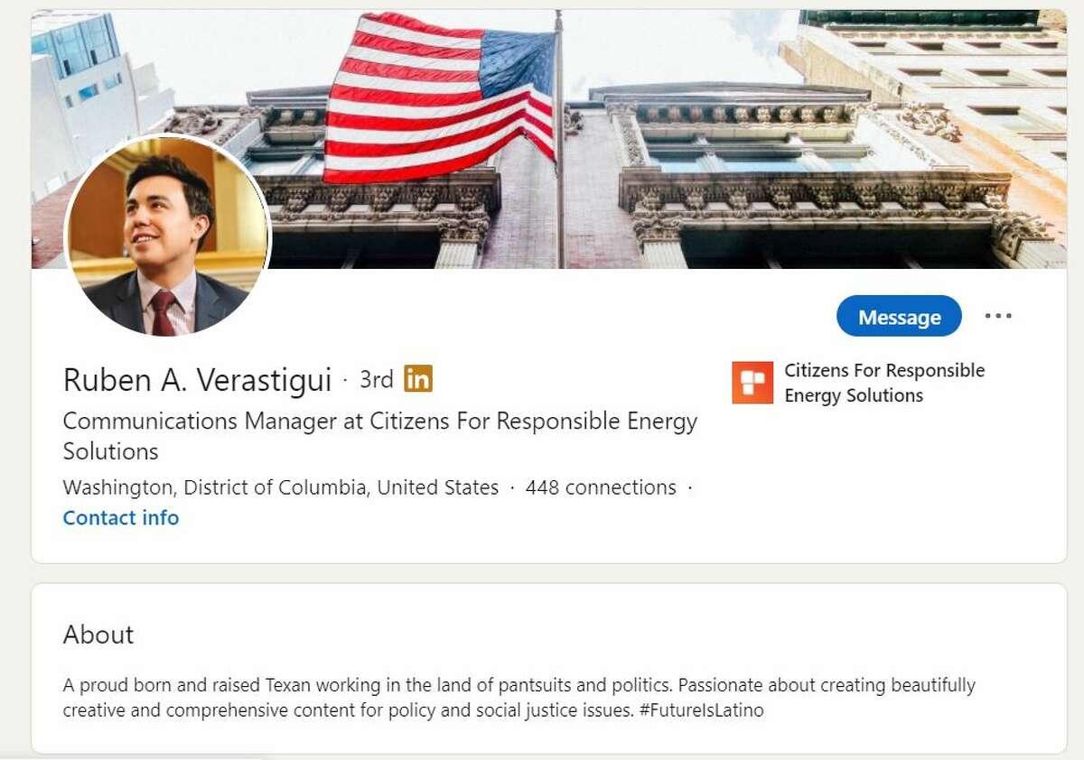 Ruben Verastigui's LinkedIn was active after his arrest as of Saturday.